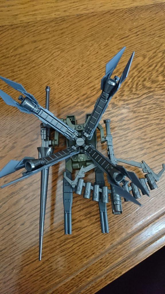 クロスボーンガンダムフルクロス(日本軍仕様) 制作工程1