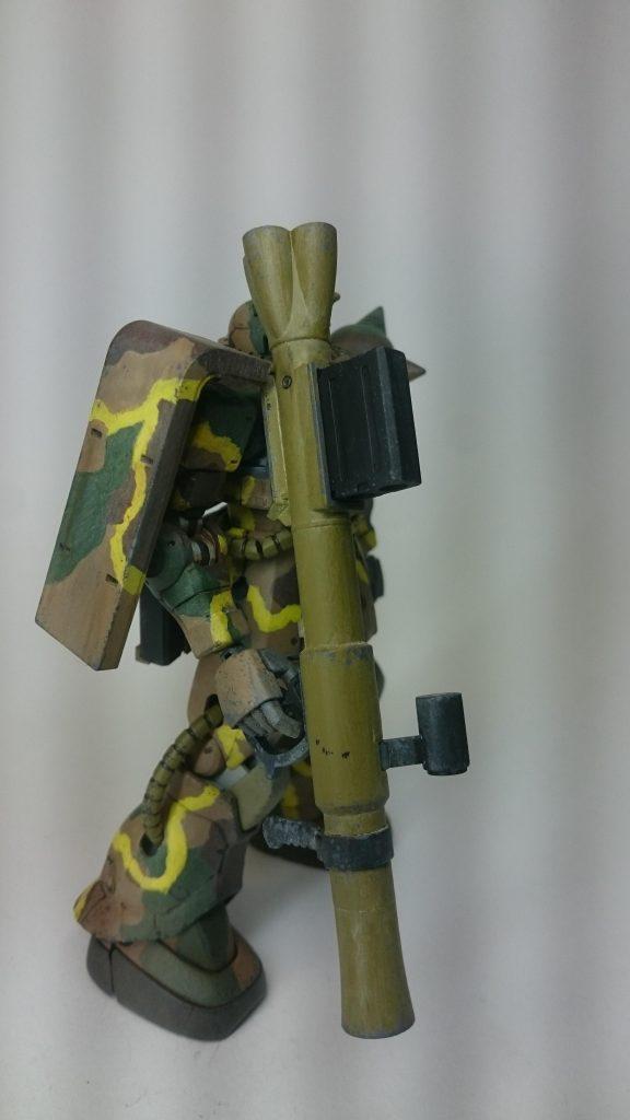 ザクⅡ 日本軍戦車風迷彩仕様 制作工程1
