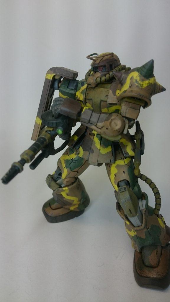 ザクⅡ 日本軍戦車風迷彩仕様 アピールショット3