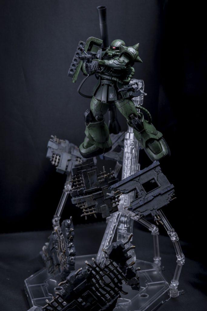 HG オリジン版 ザクⅡ アピールショット1