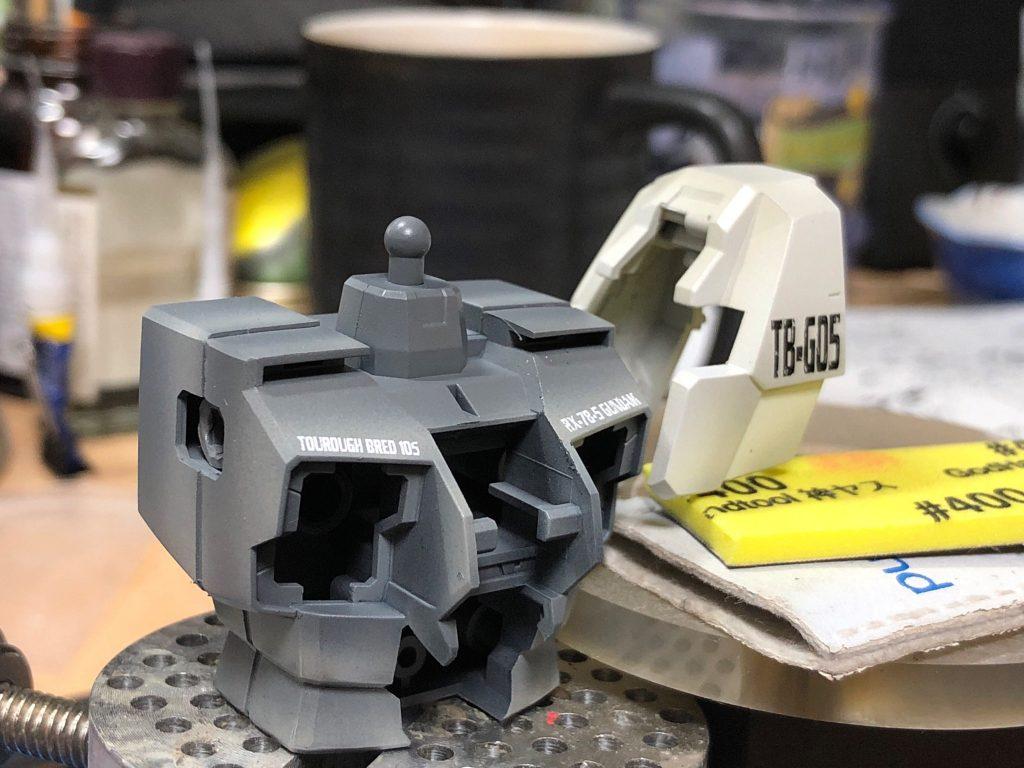MG 1/100 ガンダム5号機 制作工程2