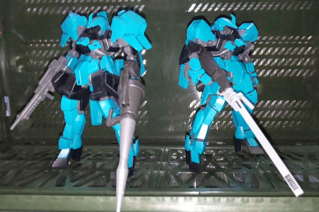グレイズカスタム・突撃仕様&砲戦仕様 アピールショット1