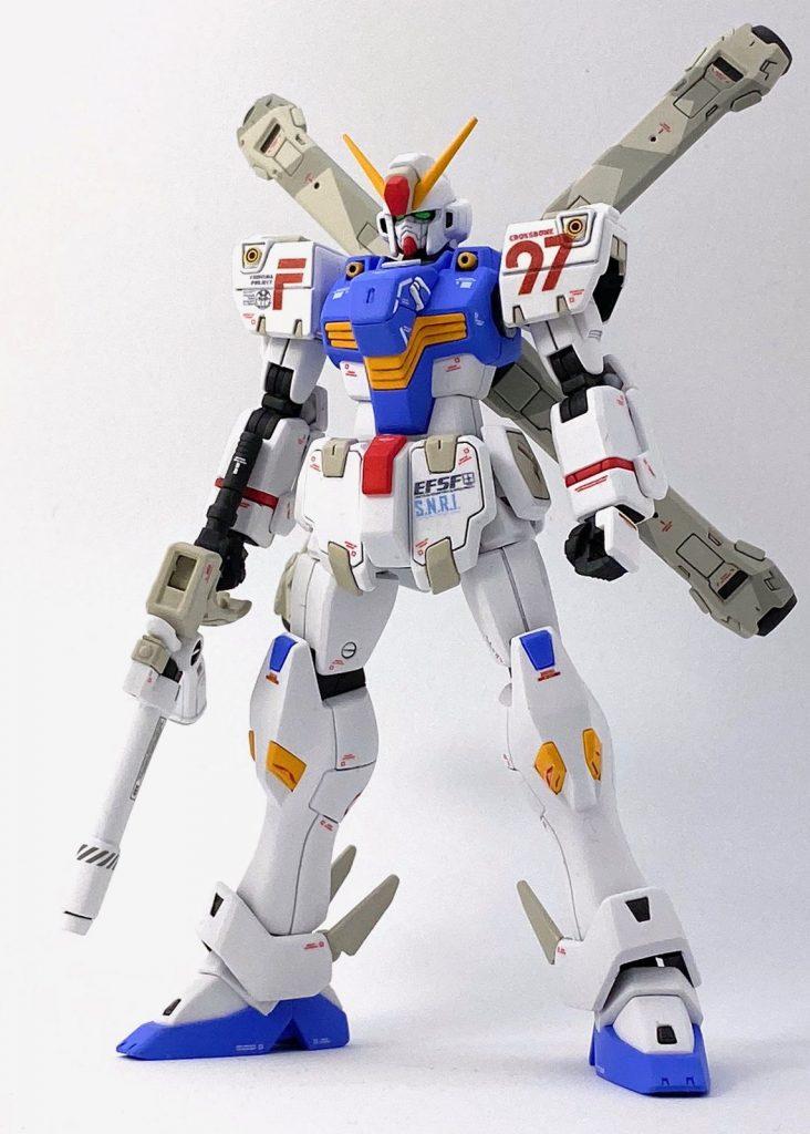"""ガンダムF97 """"クロスボーン"""" (HGUC改造) アピールショット1"""