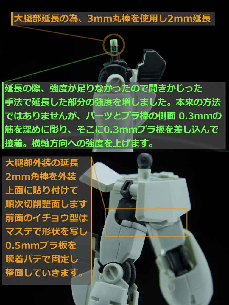 HGUC ジムIII(ネェルアーガマ配備機) 制作工程4