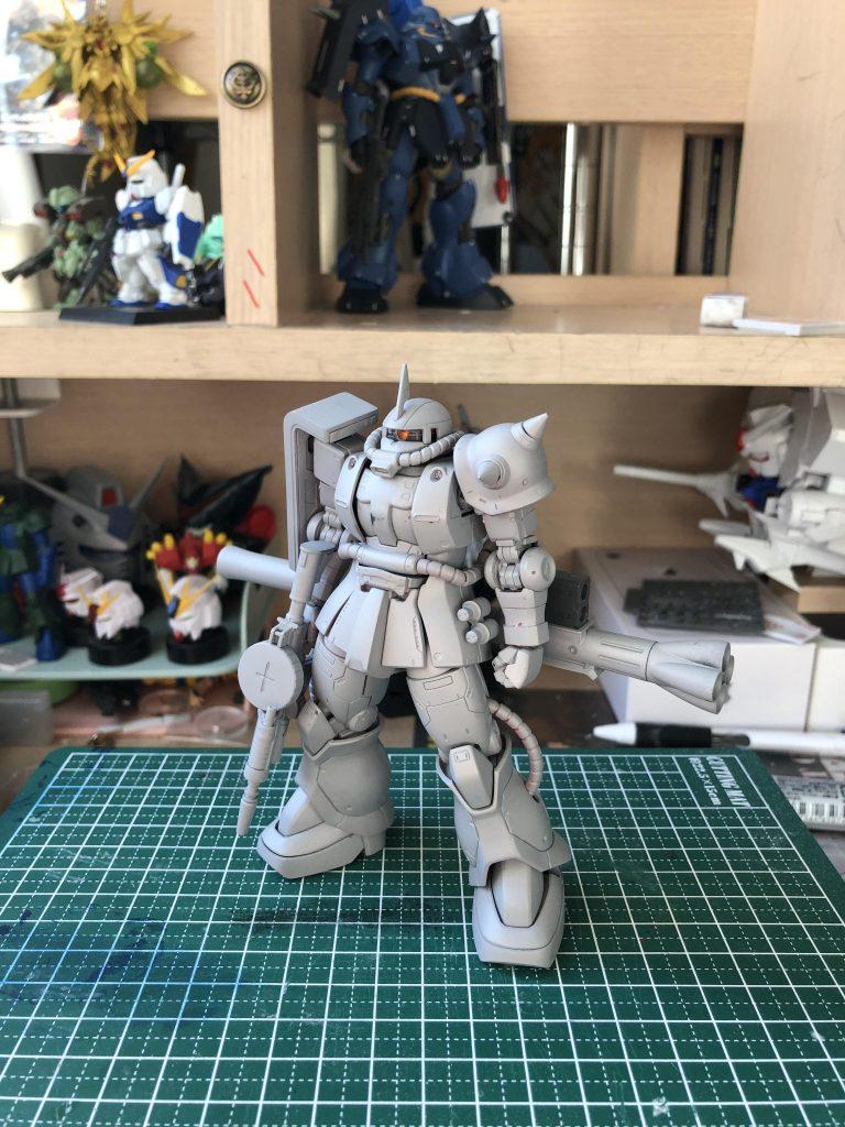 MS-06S ザクII 制作工程3