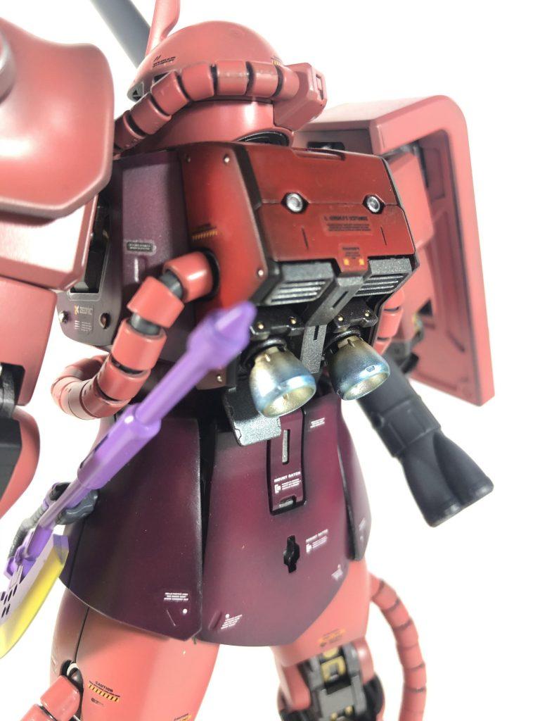 シャア専用ザク MG VER2.0 30周年クリアーパーツ使用 アピールショット4