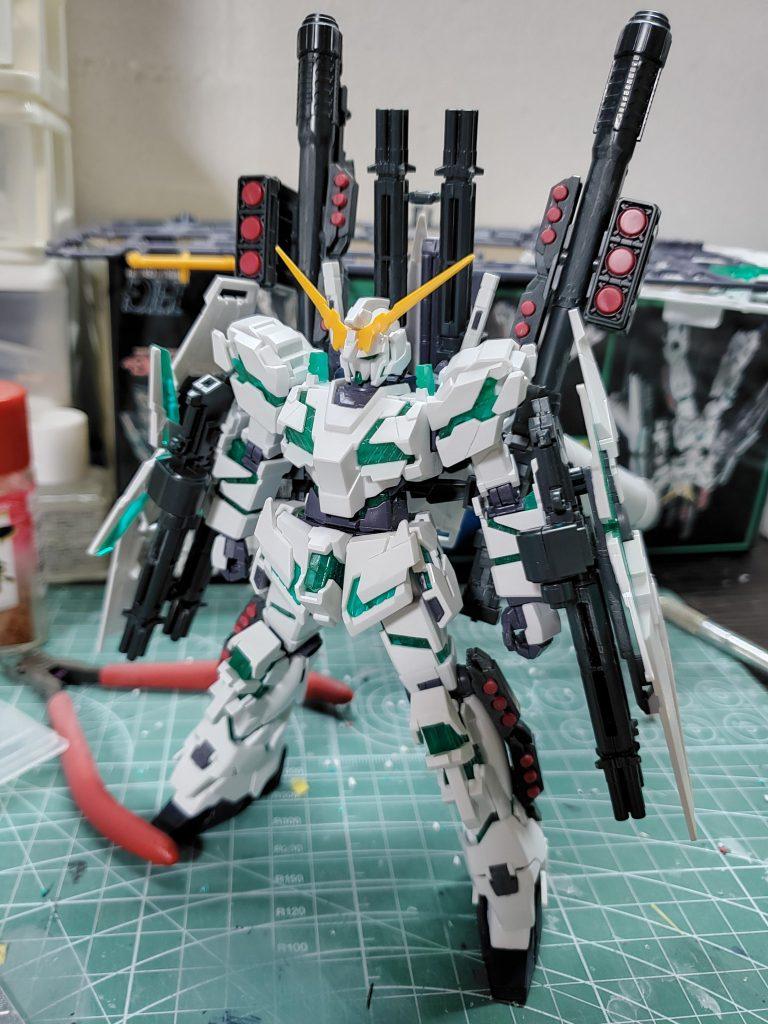 RX-0 UNICORN GUNDAM (NT-D) 制作工程1