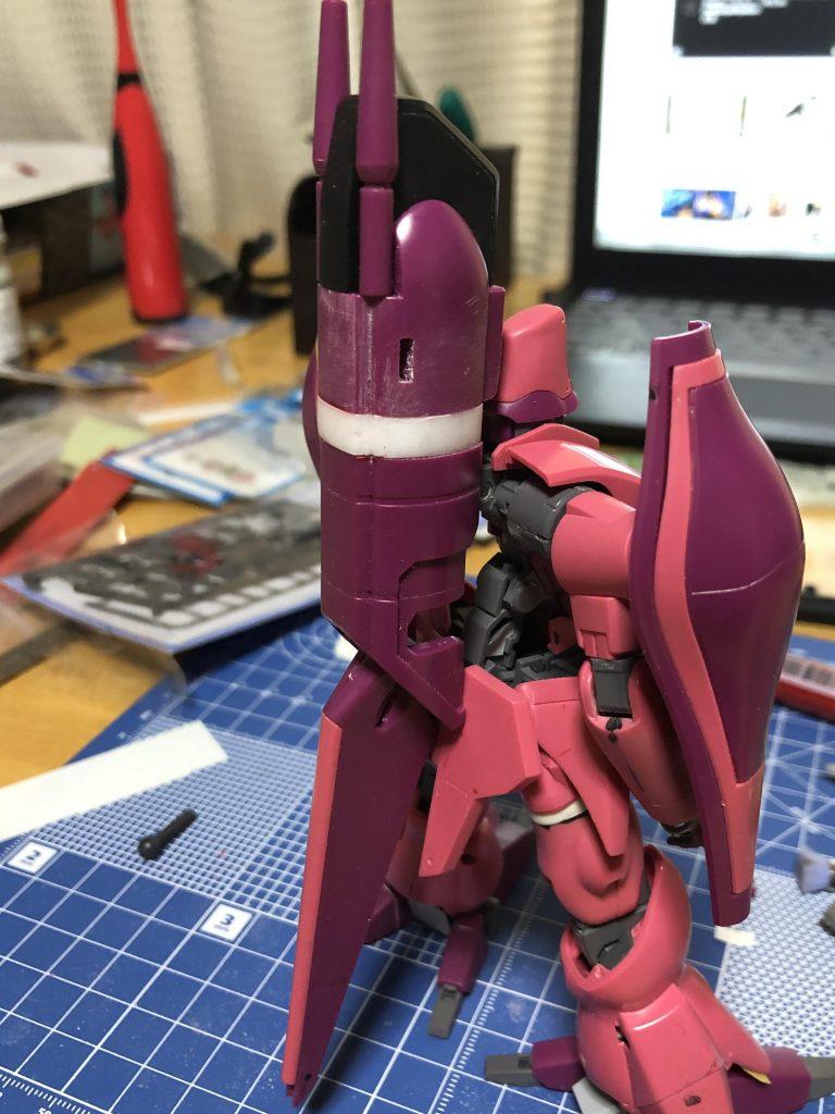 1/144HGUC AMX-003ガザC 制作工程1