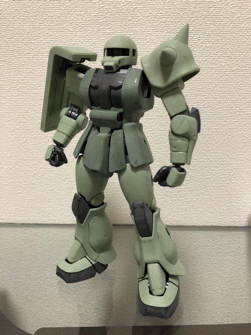 MG 1/100 MS-06J ザクⅡ ver.2.0 制作工程1
