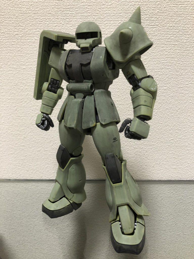 MG 1/100 MS-06J ザクⅡ ver.2.0 制作工程3