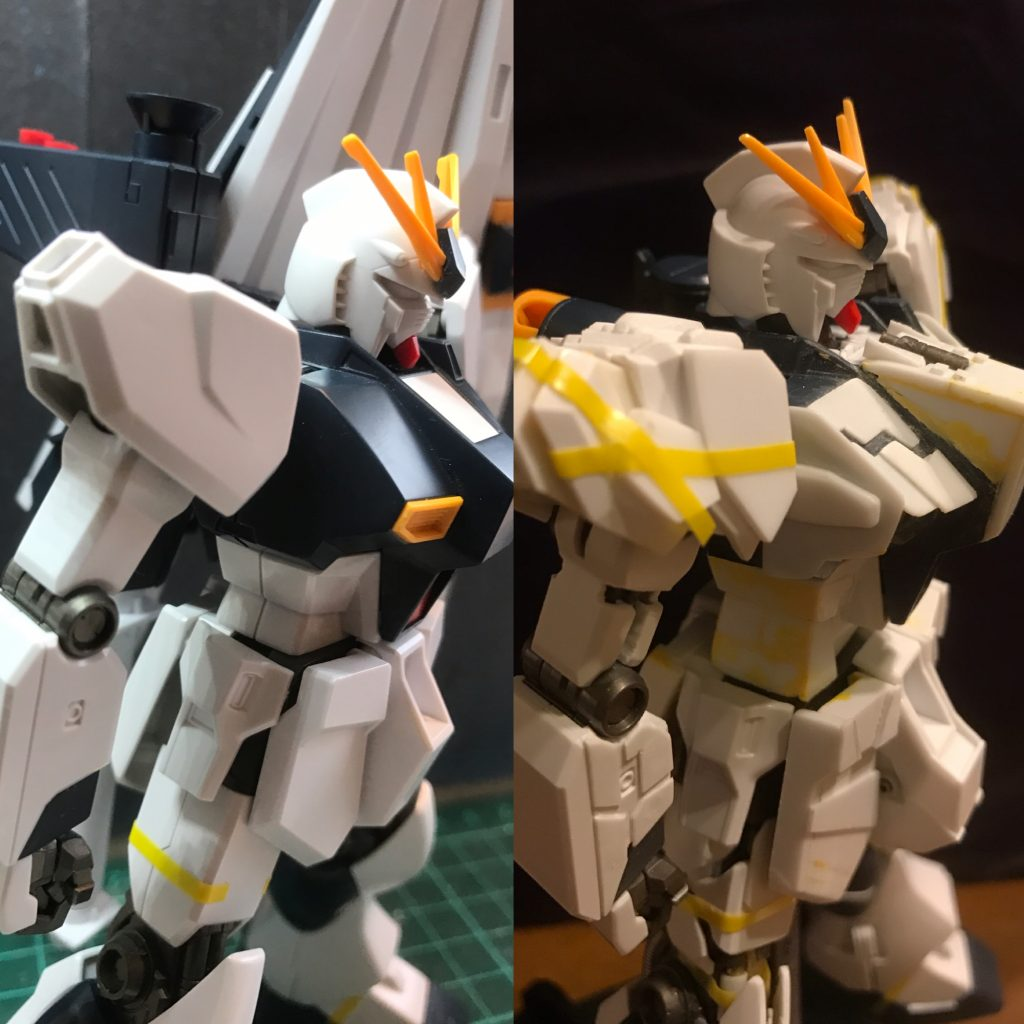HGUC 086 1/144 RX-93 νGUNDAM 制作工程1