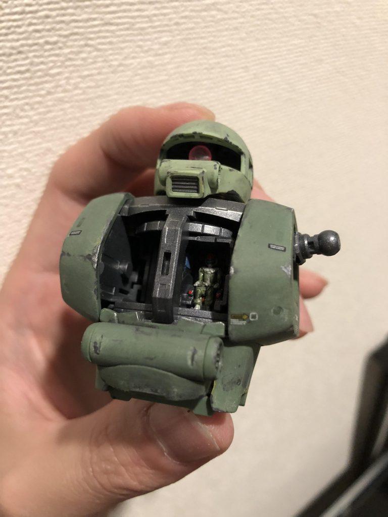MG 1/100 MS-06J ザクⅡ ver.2.0 制作工程4