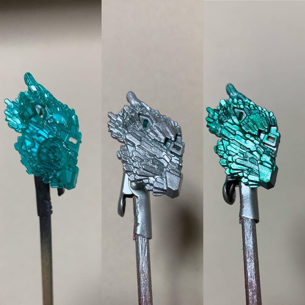 HGユニコーンガンダム光の結晶体 制作工程1