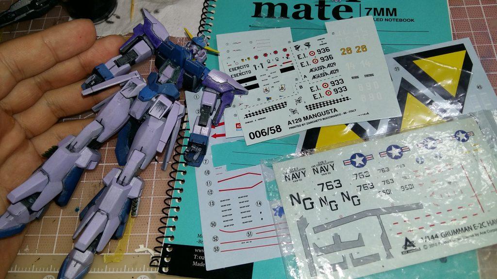 HG Gundam AGE FX 制作工程4