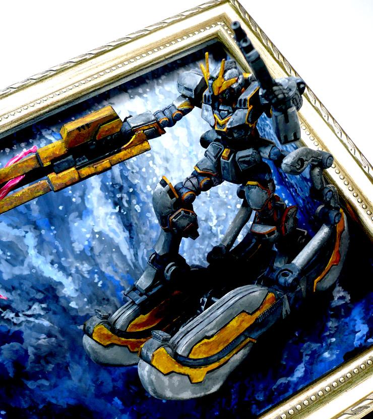 コア[トラス]ガンダム 絵画塗装 アピールショット8
