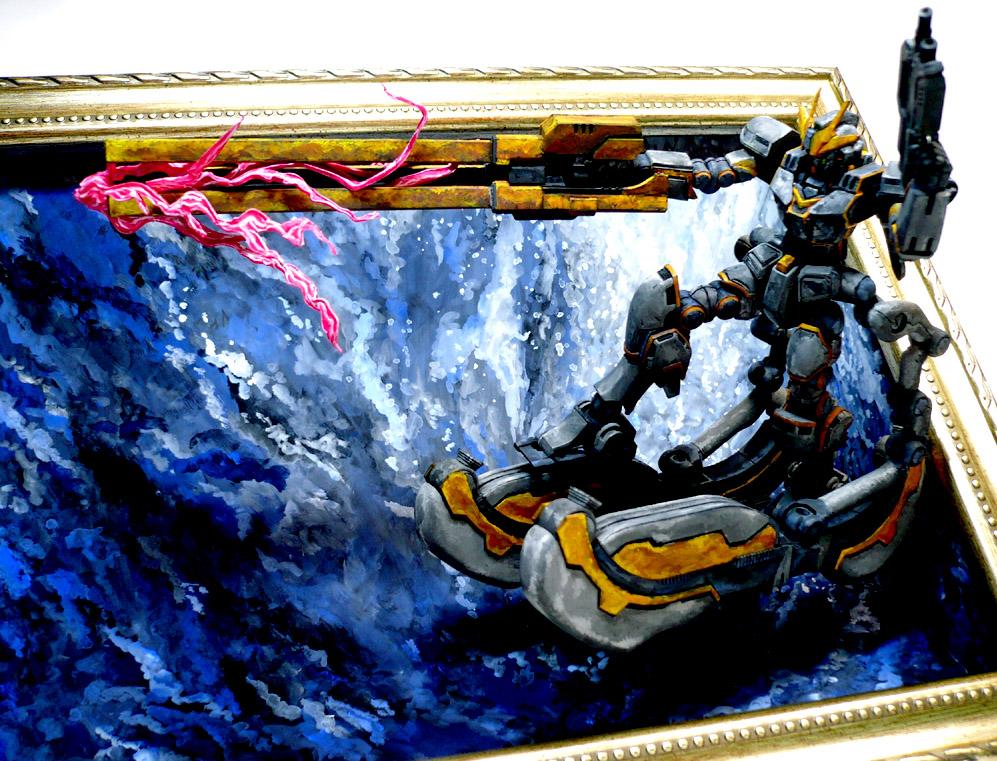 コア[トラス]ガンダム 絵画塗装 アピールショット7