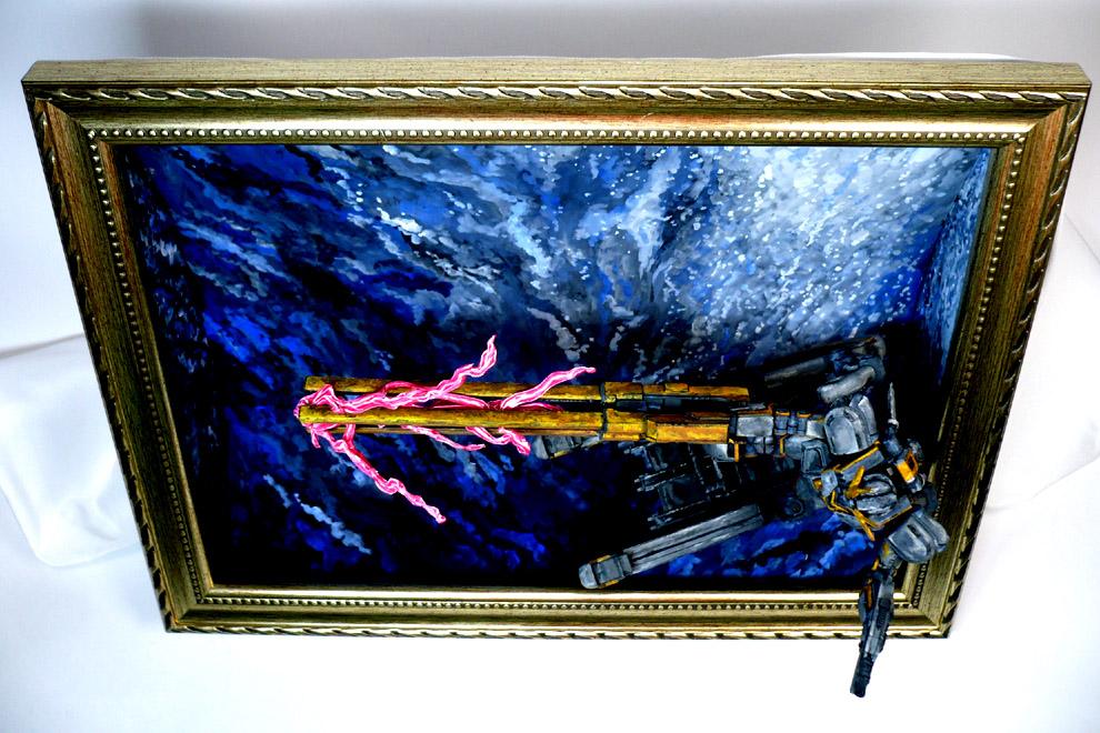 コア[トラス]ガンダム 絵画塗装 アピールショット5
