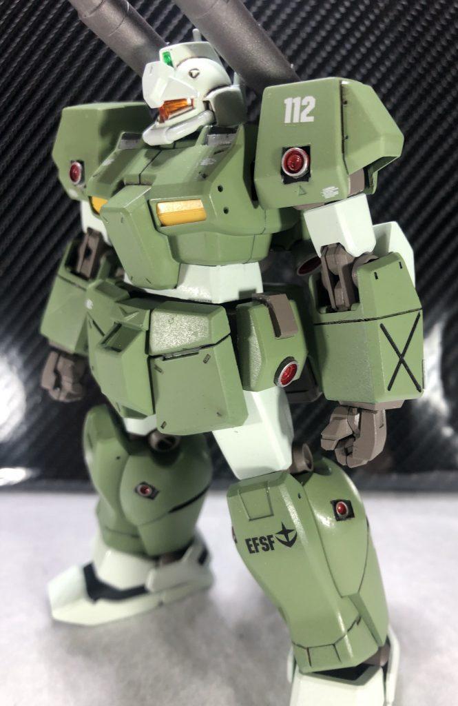 HGUCジムキャノンⅡ アピールショット3