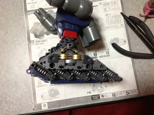 MG ガンタンク 制作工程3