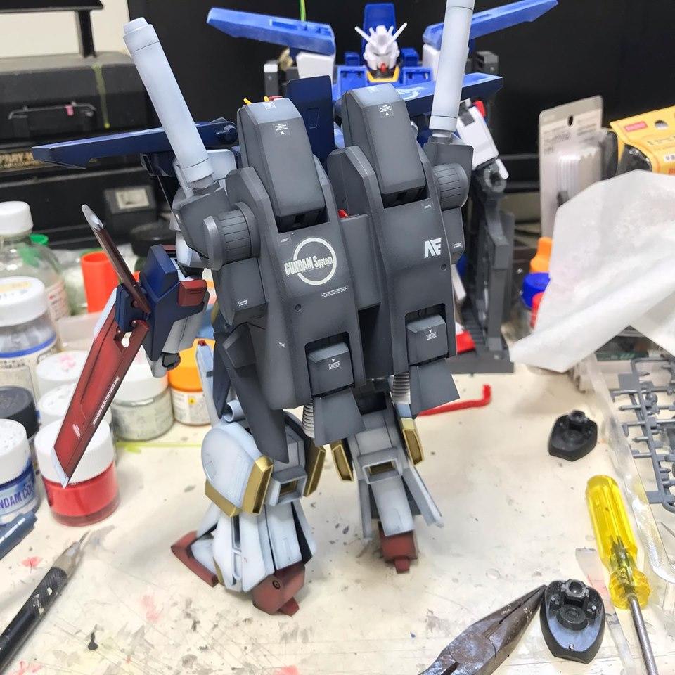 MG ZZガンダム 制作工程5