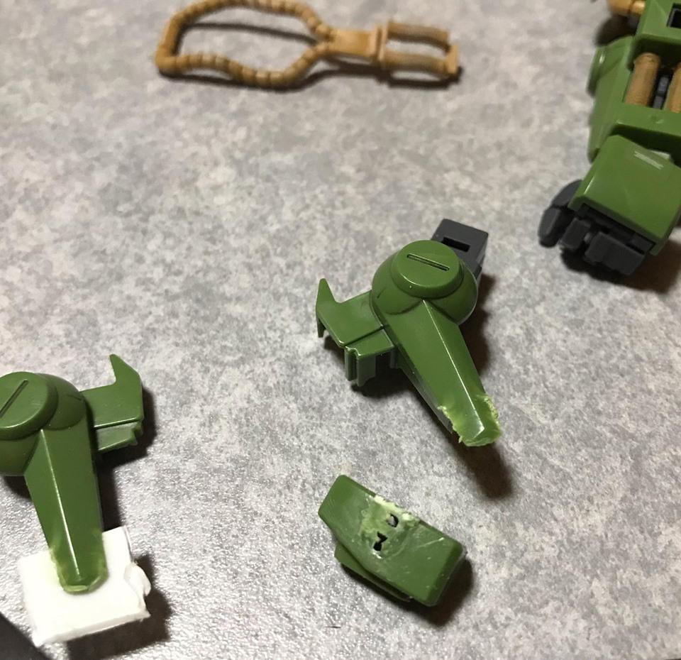 MG ハイザック先行量産型T3カラー 制作工程3