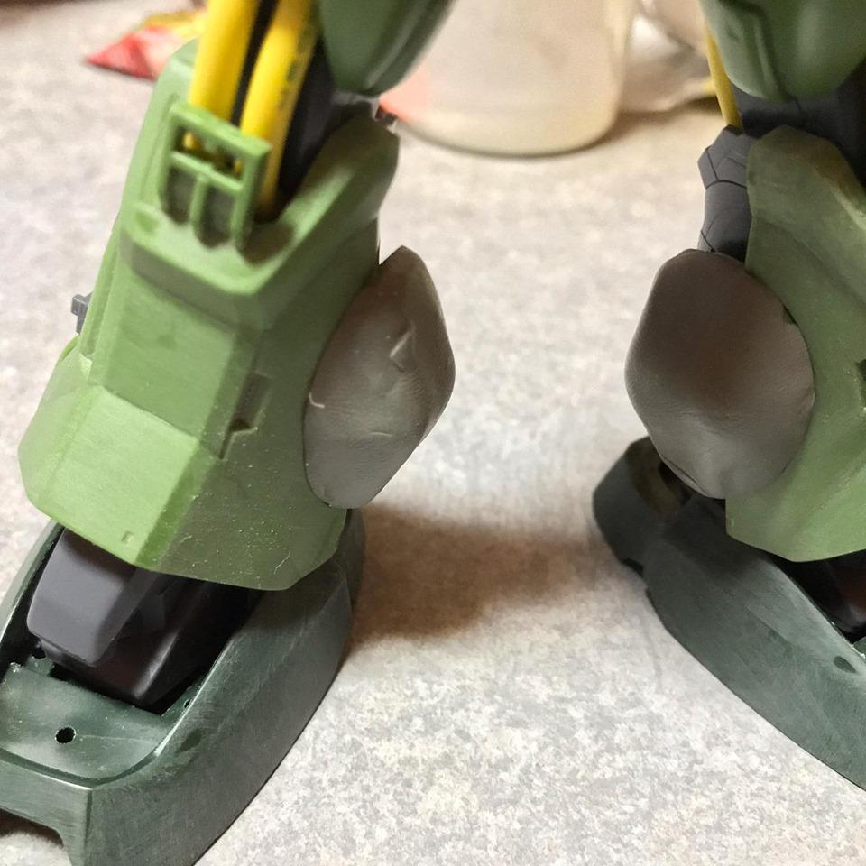 MG ハイザック先行量産型T3カラー 制作工程7