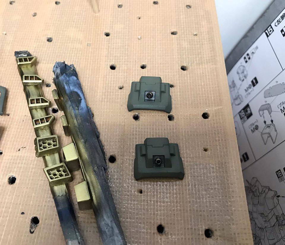 MG フルアーマーガンダム 制作工程8