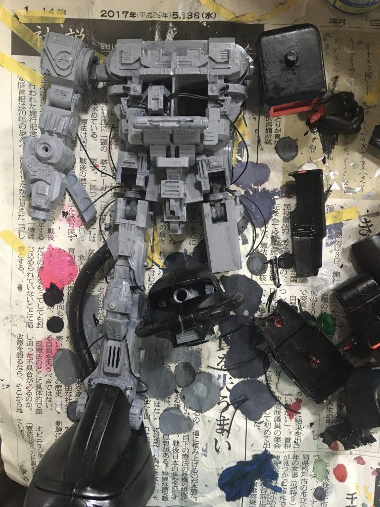 メカニックモデルザク 制作工程4