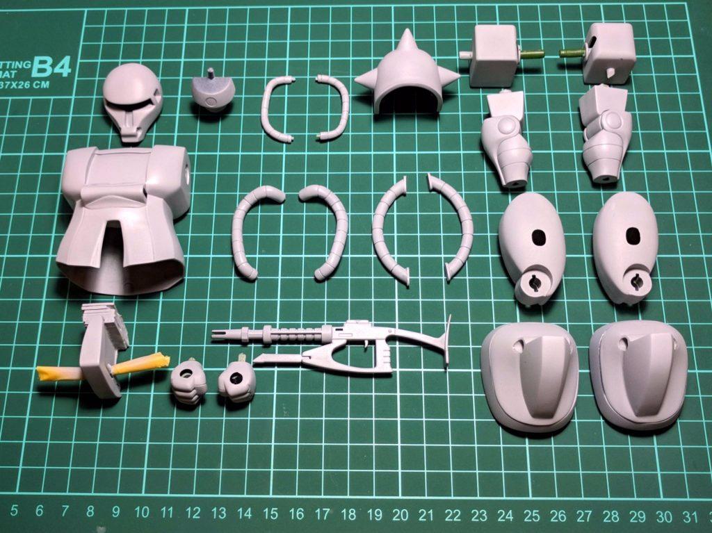 旧キット 1/100 ザクII (ZAKU II) 制作工程4