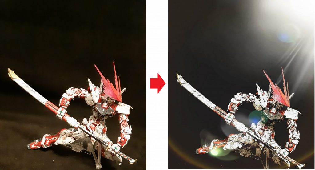 MG アストレイ レッドドラゴン 改修 制作工程5