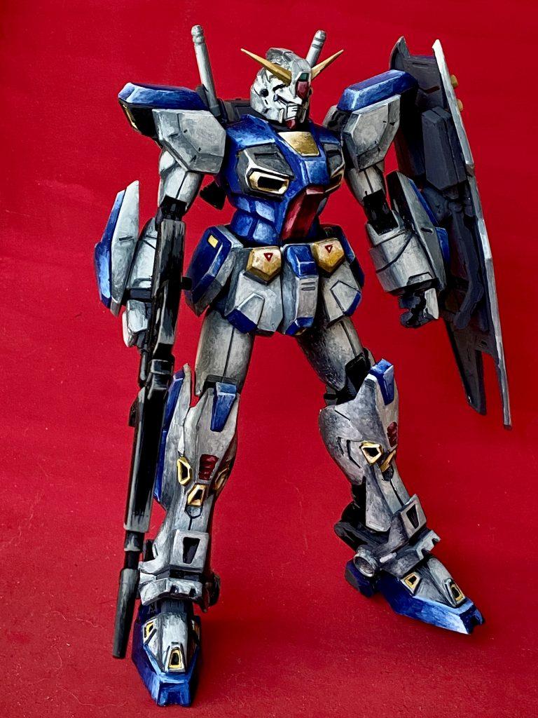 MG ガンダム F90 筆塗りイラスト風 アピールショット2