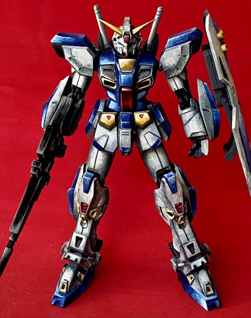 MG ガンダム F90 筆塗りイラスト風 アピールショット3
