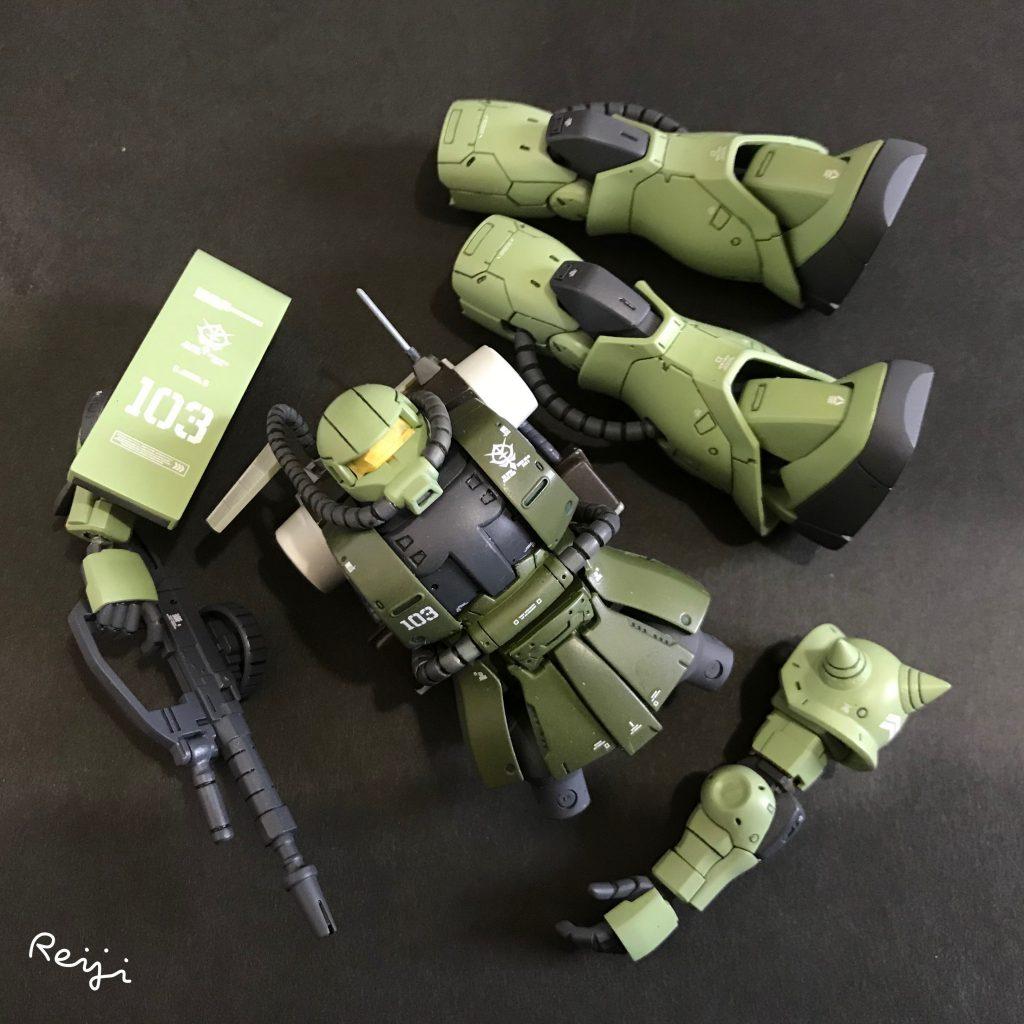 HG ザクⅡ マインレイヤー 制作工程3