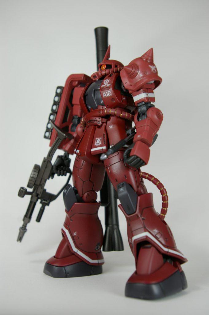 HGUC シャア専用ザクII 赤い彗星Ver. アピールショット4