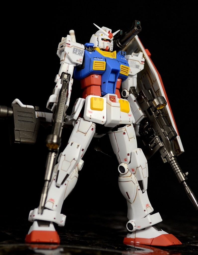 HG RX-78-02ガンダム(GUNDAM THE ORIGIN版) 制作工程2