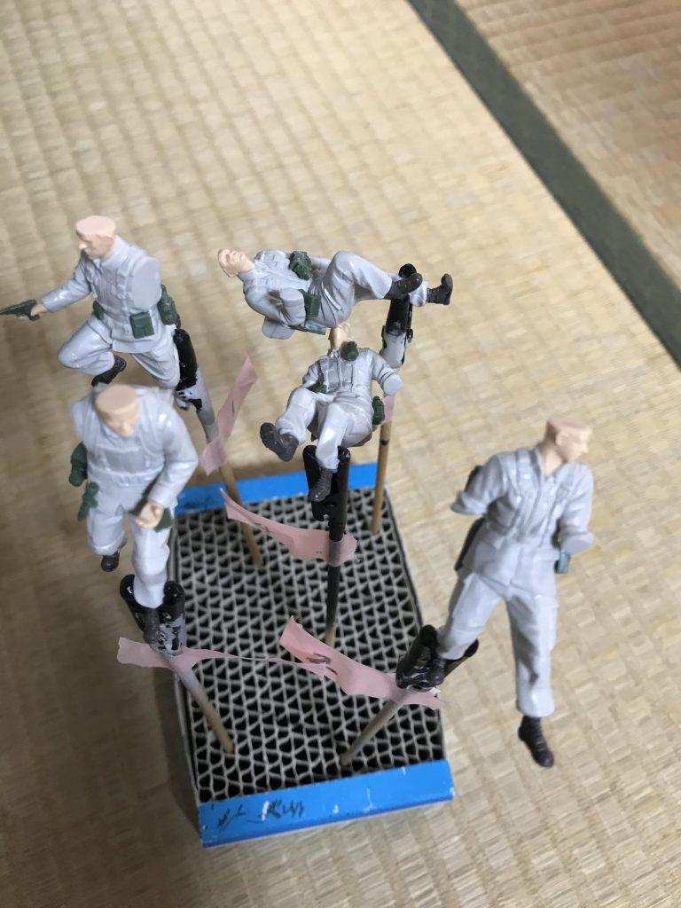 1/35 U.C.ハードクラフトシリーズ 地球連邦軍対MS特技兵セット ウェザリング 制作工程6