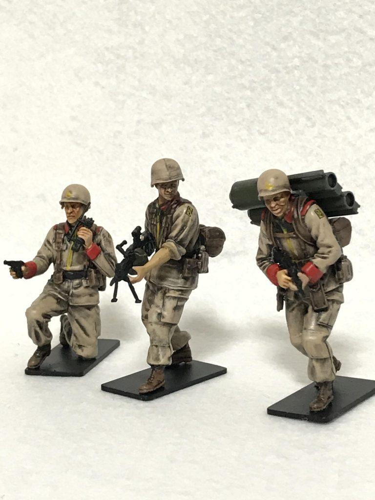 1/35 U.C.ハードクラフトシリーズ 地球連邦軍対MS特技兵セット ウェザリング 制作工程2
