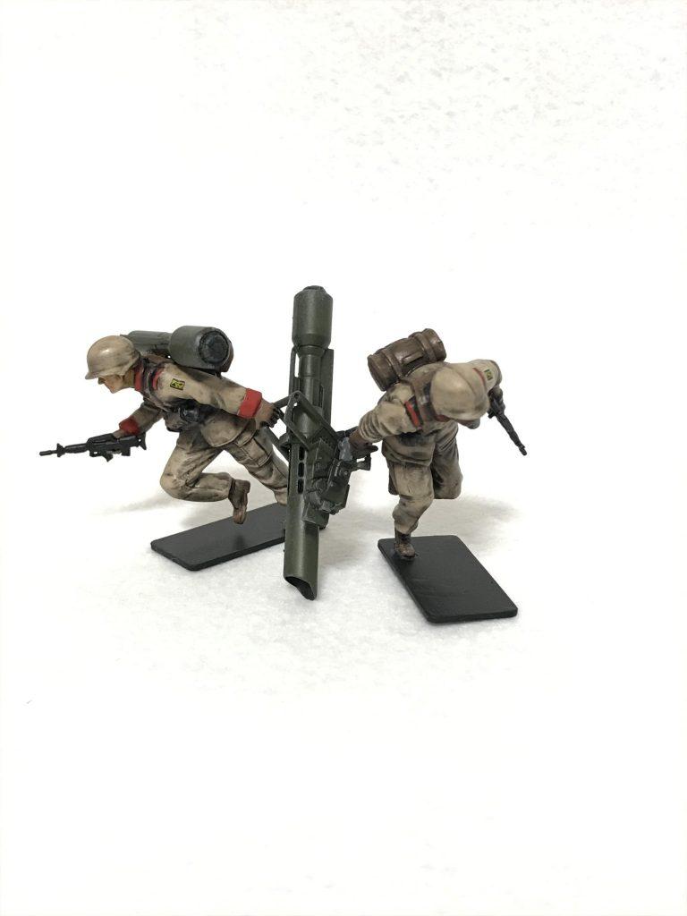 1/35 U.C.ハードクラフトシリーズ 地球連邦軍対MS特技兵セット ウェザリング 制作工程4