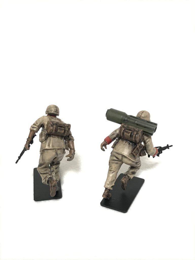1/35 U.C.ハードクラフトシリーズ 地球連邦軍対MS特技兵セット ウェザリング 制作工程5