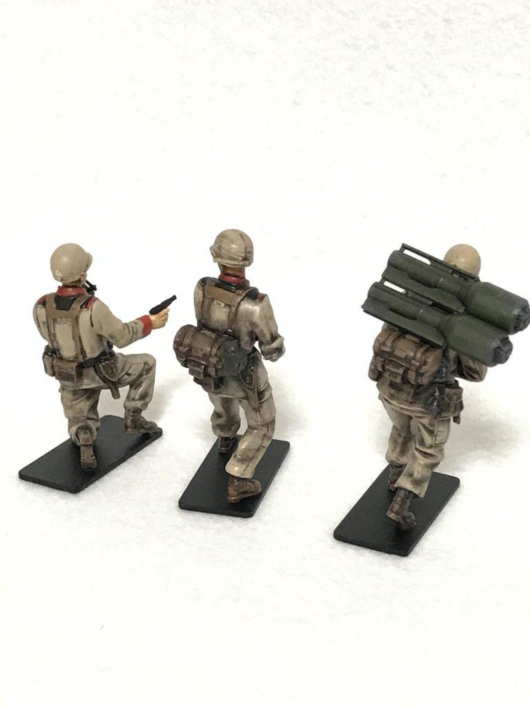 1/35 U.C.ハードクラフトシリーズ 地球連邦軍対MS特技兵セット ウェザリング 制作工程3