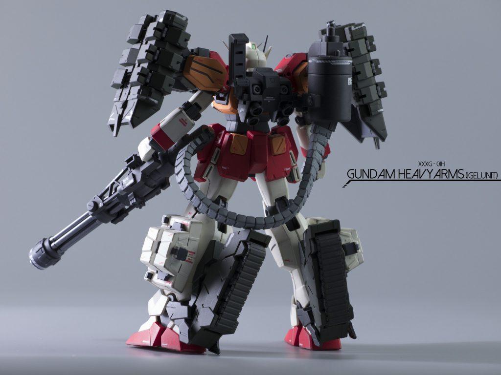 MGガンダムヘビーアームズ(イーゲル装備) アピールショット1