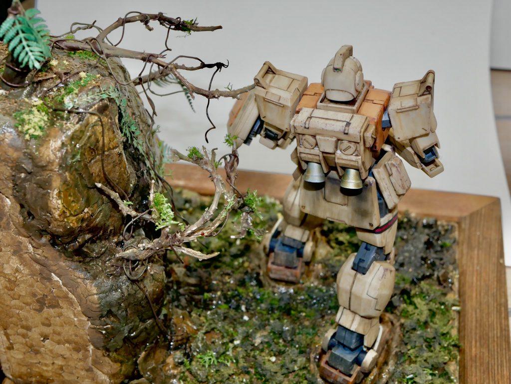 【ジオラマ】密林 HGUC 陸戦型ジム アピールショット2