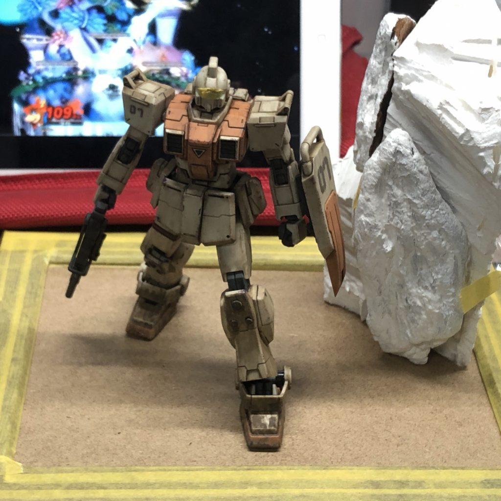 【ジオラマ】密林 HGUC 陸戦型ジム 制作工程2