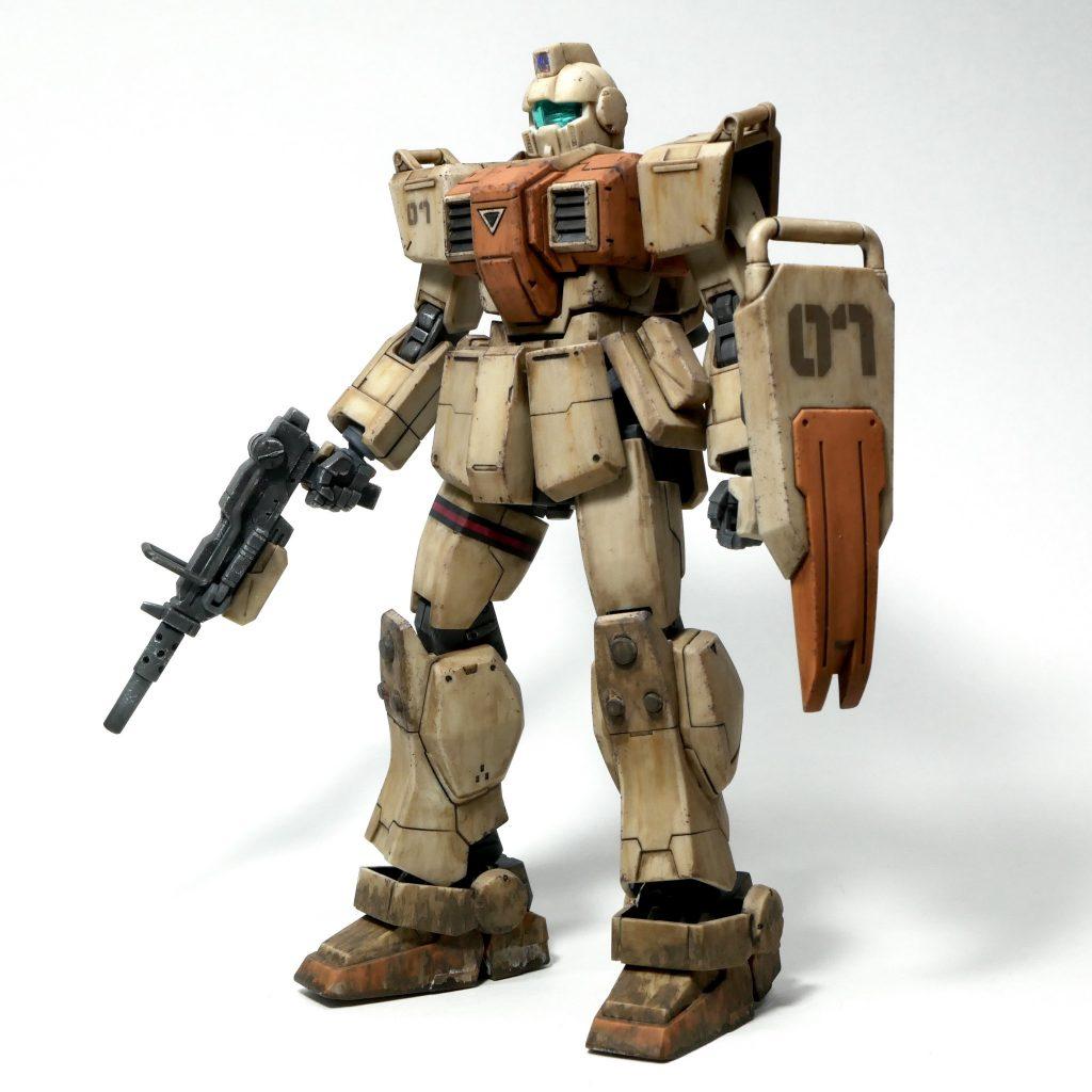 【ジオラマ】密林 HGUC 陸戦型ジム アピールショット4