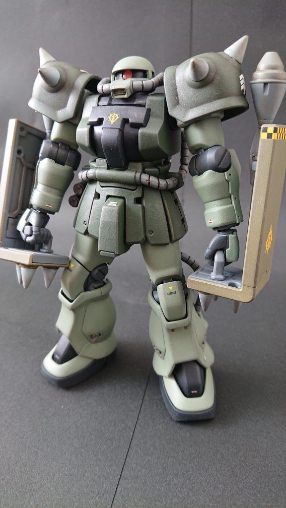 hgucザクⅡF2(近接格闘仕様) 制作工程2