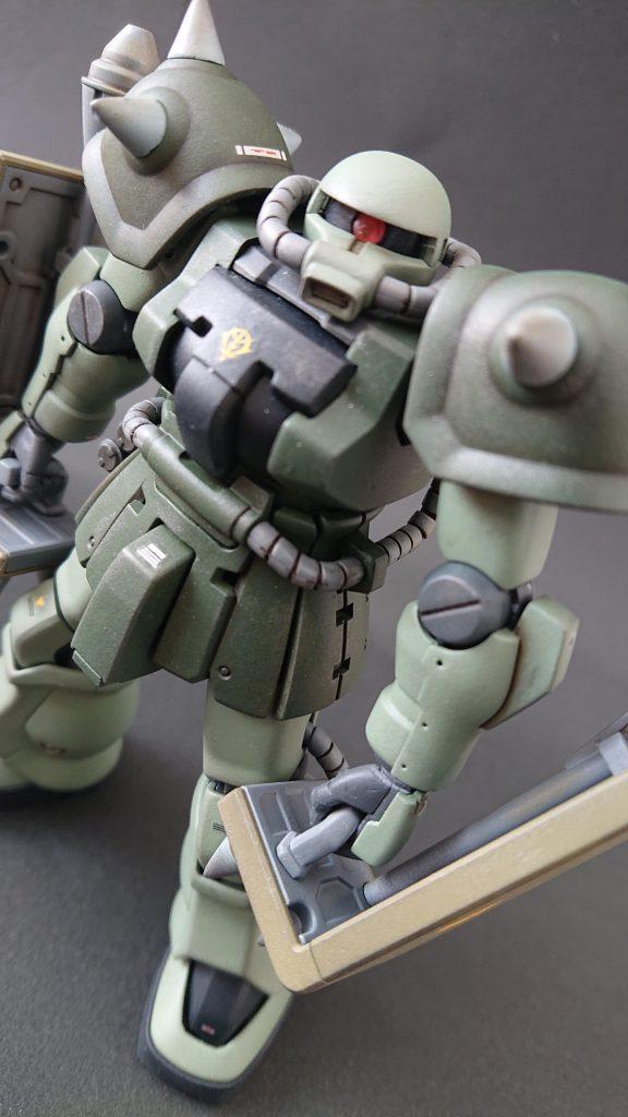 hgucザクⅡF2(近接格闘仕様) 制作工程1