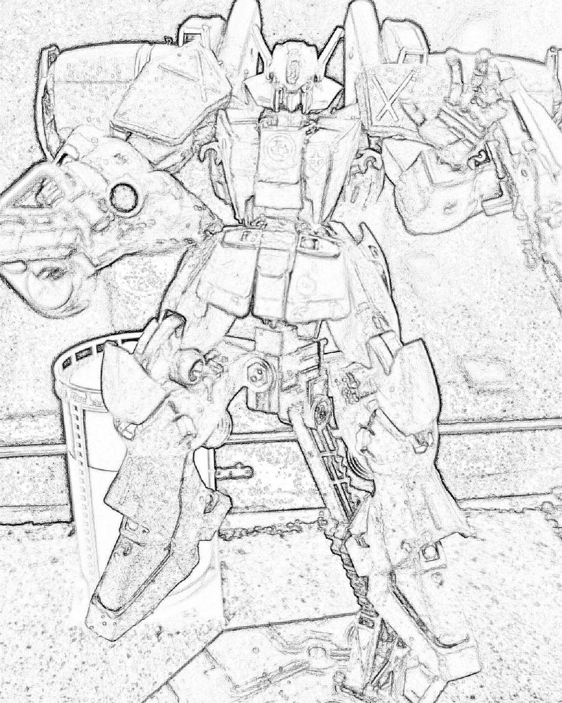 バイアラン フェイス:α任務部隊所属:空間戦闘試作機 制作工程2