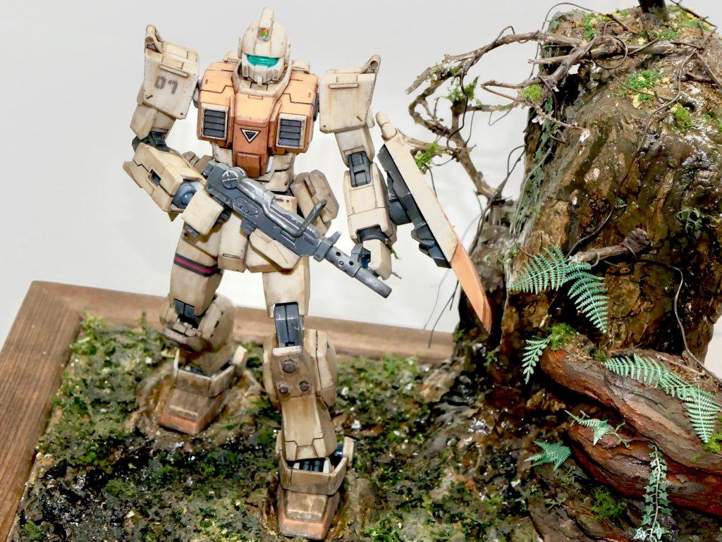 【ジオラマ】密林 HGUC 陸戦型ジム