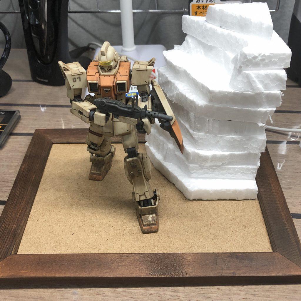 【ジオラマ】密林 HGUC 陸戦型ジム 制作工程1