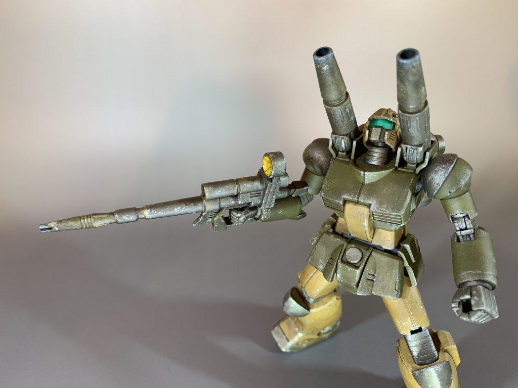 HGガンキャノンをシタデル筆塗りで砂漠戦用カラーに。 アピールショット2
